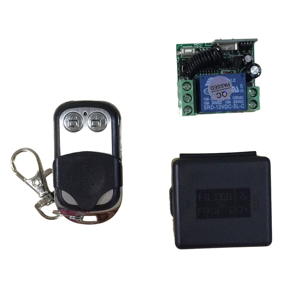 NEW 433Mhz Universal Wireless Remote Control Switch DC12V 10A 1CH relay Receiver Module with RF Remote 433 Mhz Transmitter