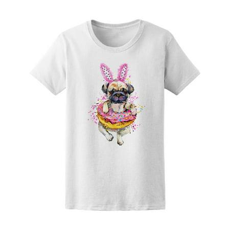 Cute Little Dog Donut Bunny Ears Tee Women's -Image by Shutterstock