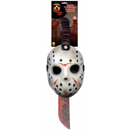 Halloween Ii 2019 Mask (Halloween Jason Adult Mask & Machete)