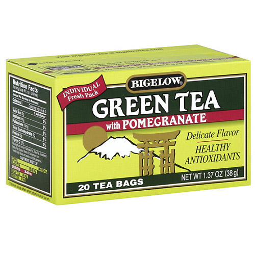 Bigelow Green Tea With Pomegranate, 1.37 oz, 20ct (Pack of 6)