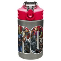 Zak! Designs Marvel Comics 15 Oz. Black Panther, Captain America, Spider-Man & The Hulk Water Bottles