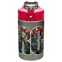 Zak! Designs Marvel Comics 15 Oz. Black Panther, Captain America, Spider-Man & The Hulk Water Bottles