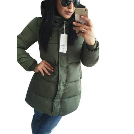Purple Winter Coat - Women's Winter Warm Hoodied Coats Long Parka Puffer Jacket Outwear