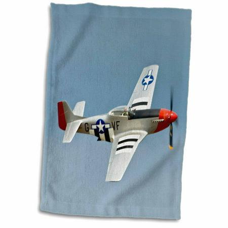 German Wwii Fighter Planes (3dRose P-51D Mustang Fighter WWII war plane - US50 BFR0014 - Bernard Friel - Towel, 15 by 22-inch)