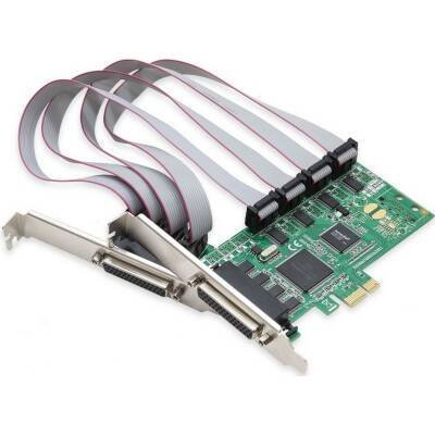 Best Connectivity 8 Serial Ports ( RS-232 ) PCI-e Controller Card with Two Fan-out Cables, and SystemBase Chip Ideal for