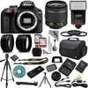 Nikon D3200 Digital SLR Camera + 18-55mm AF-S DX Nikkor VR + 2.2X Telephoto and 0.43X Macro Lens Kit + 32GB Memory + Bounce Swivel Flash + Tripod + Padded Case Bag + UV CPL FLD Filter Bundle + Remote <ul><li>24MP CMOS DX-format sensor, 4 frames per second continuous shooting</li><li>11 AF points (with 3D tracking), ISO 100-6400 (plus ISO 12,800-equivalent Hi1 setting)</li><li>Full HD 1080p video, 3.0 inch LCD with 920,000 dots</li><li>Expeed 3 processing, Microphone input</li><li>Twin IR remote receivers, Beginner-friendly Guide mode</li></ul>