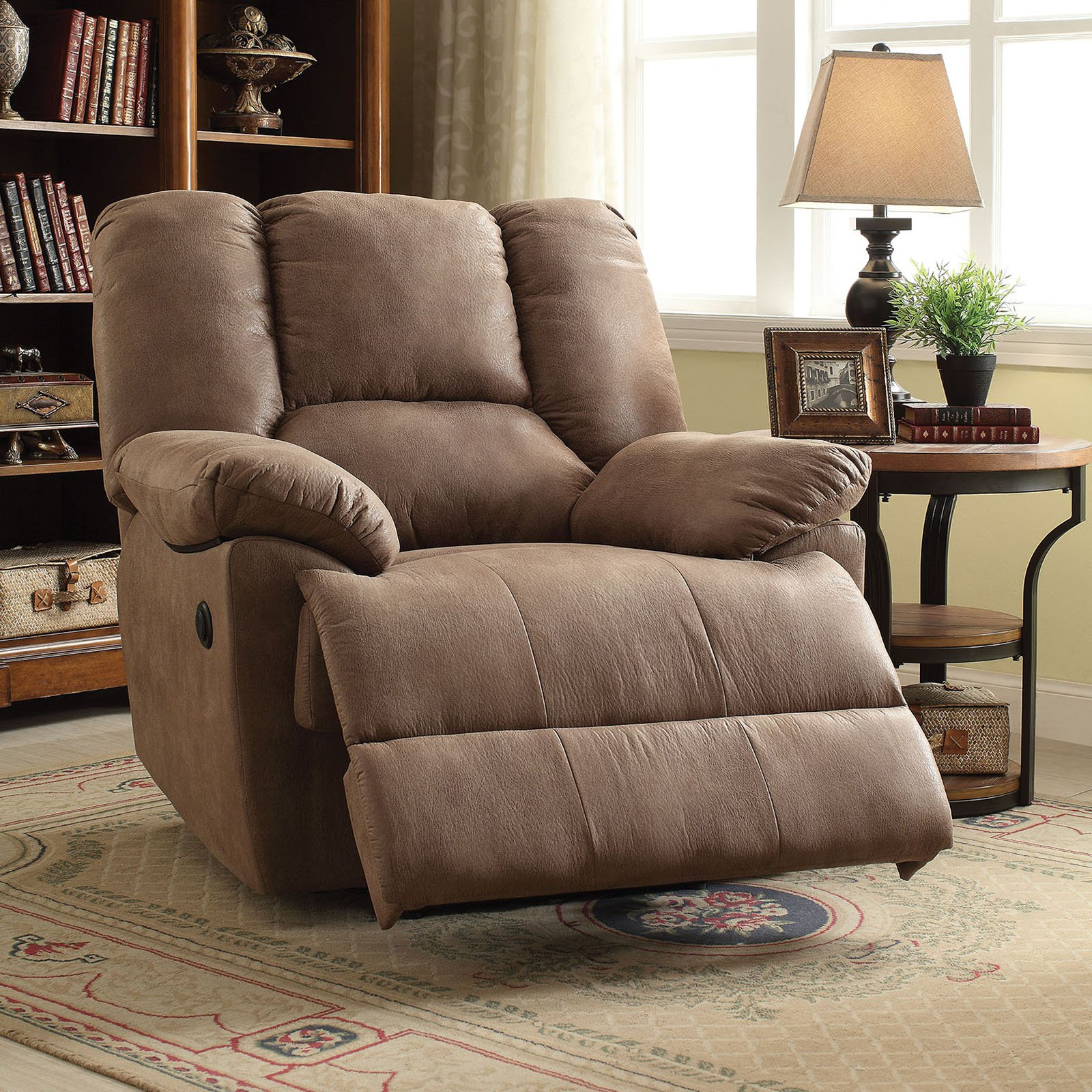 ACME Oliver Power Recliner, Brown Polished Microfiber by Overstock