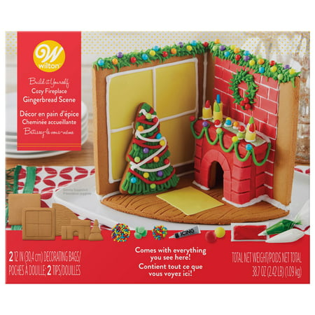 Wilton Build-it-Yourself Gingerbread Scene Decorating Kit, Interior Christmas -
