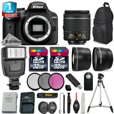 Nikon D3400 DSLR Camera + 18-55mm VR + Flash  + Filters + Remote + 1yr
