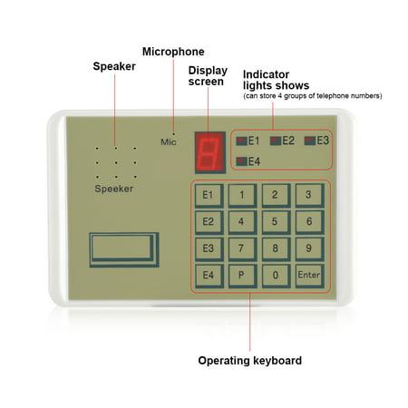 Mgaxyff Auto dialer Alarm DialerWired Telephone Voice Auto dialer Burg