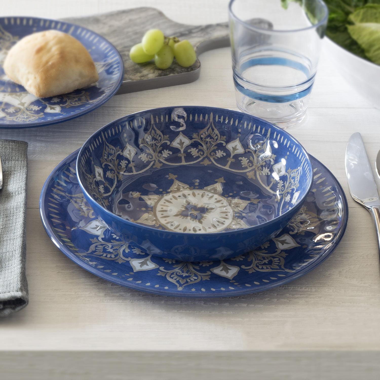 Better Homes & Gardens Outdoor Melamine Dinnerware Set, 12 Piece
