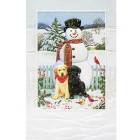 "Set of 16 Bonded Friends Christmas Greeting Card 5.38"" x 8.25"""