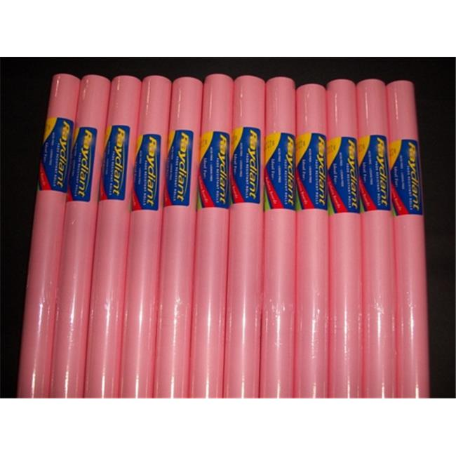 RiteCo Raydiant 80045 Riteco Raydiant Fade Resistant Art Rolls Pink 18 In. X 50 Ft. 12 Pack