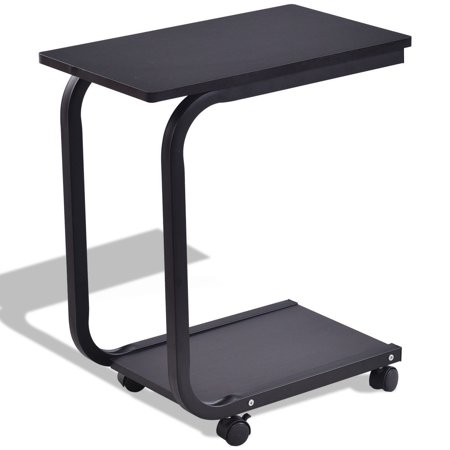 2 Tier Snack Stand Rolling Sofa Side Table Walmart Com