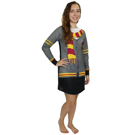 Harry Potter Hogwarts Gryffindor Women's Costume Nightgown Pajamas - Hogwarts Costumes