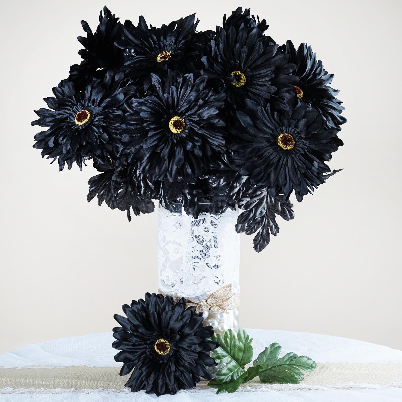 Efavormart 28 Artificial GERBERA Daisy Bushes for DIY Wedding Bouquets Centerpieces Arrangements Party Home Decorations - 10 Colors
