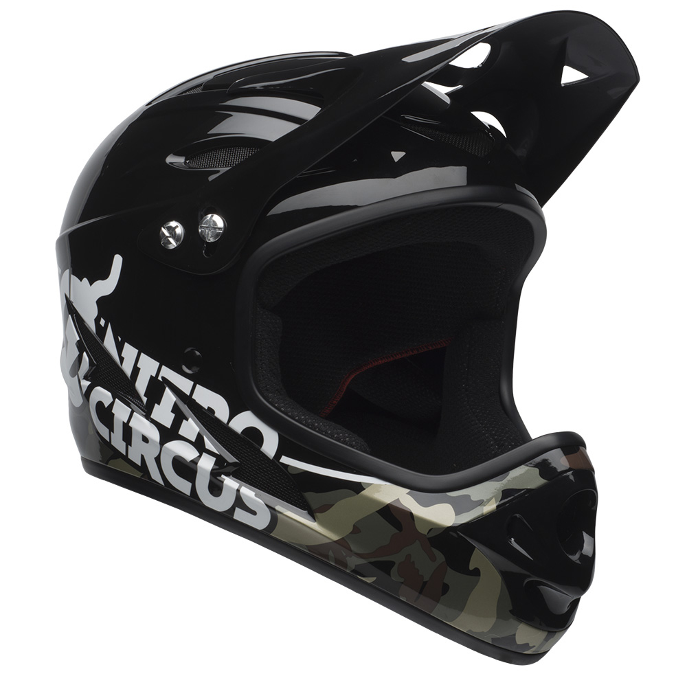 Bell Sports Nitro Circus Exodus Full-Face w/ Chinbar Youth Bike Helmet, Black Camo
