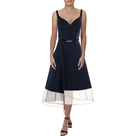 Kay Unger New York Womens Embellished Sleeveless Cocktail Dress