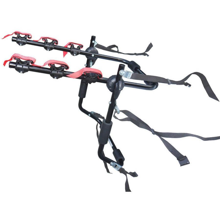 Sparehand Trunk Mounted 3-Bike Car Rack for All Frame Types Stoneman Sports, VR-601, Black