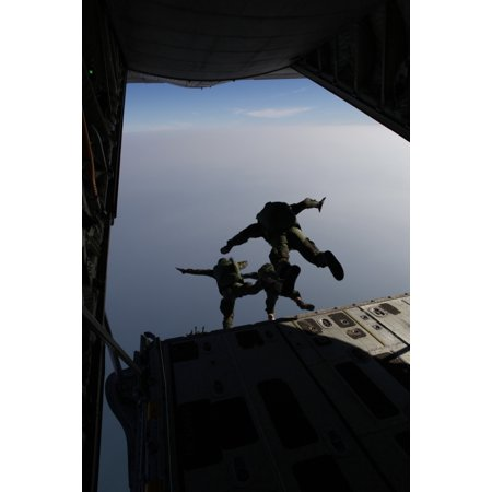 US Marines conduct jump training with a Royal Thai Marine Corps Poster  Print - Walmart com
