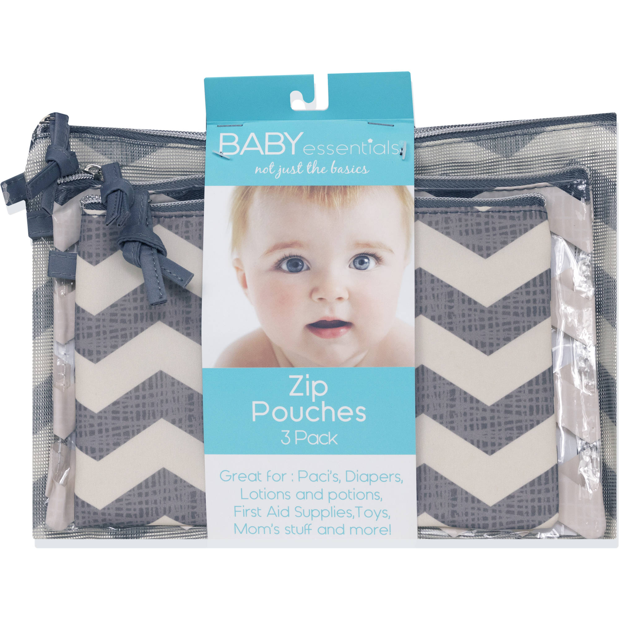 Baby Essentials Chevron Pouch Set