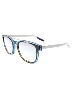 DIOR HOMME BLACKTIE211S Silver Blue Square Sunglasses