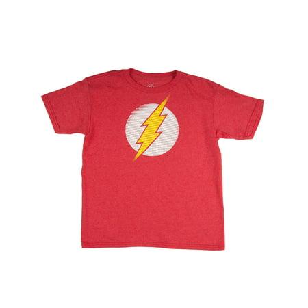 The Flash Boys' Classic Lighting Bolt Logo Red Short Sleeve Graphic Tee - The Flash Kids