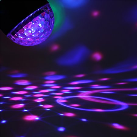 Sound Activated Remote Control 3 RGB 48 LED Lights Crystal Magic Ball Support Music MP3 Player for Stage Lights Party Lights Christmas Halloween Disco DJ Lights - image 4 de 11