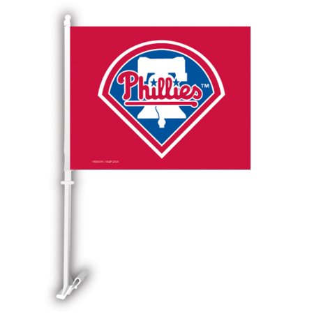 Fremont Die Inc Philadelphia Phillies Car Flag With Wall Brackett Car Flag With Wall Brackett