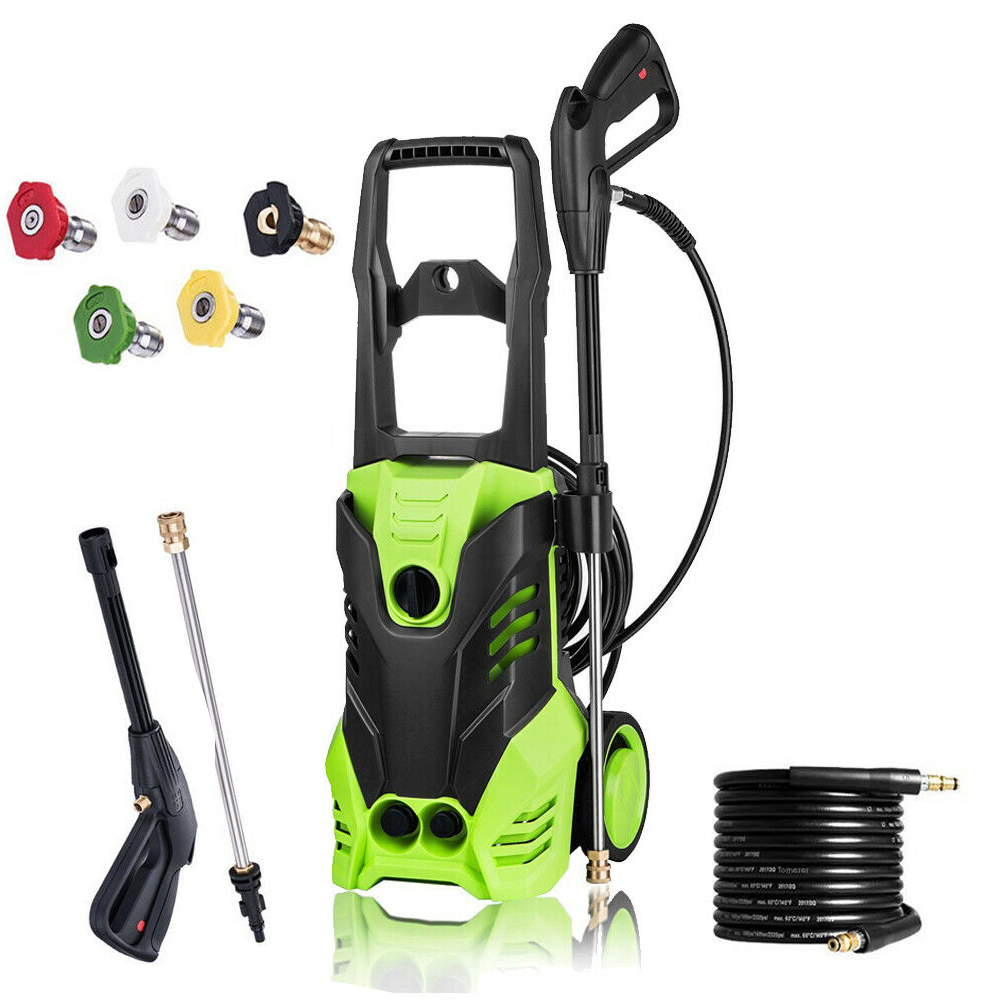 Zimtown Heavy Duty 1305PSI/2200PSI Electric High Pressure Washer 1800W 1.76GPM/1.6GPM Jet Sprayer, Professional Power Washer Cleaner Machine, with Hose Nozzle Gun, Great for Cleaning Cars Trucks