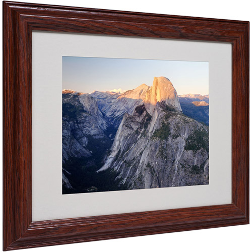 "Trademark Fine Art ""Half Dome Yosemite"" Matted Framed Art by Pierre Leclerc"
