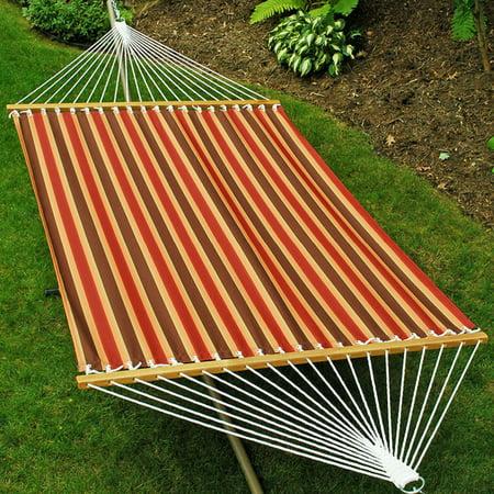 Algoma 13 ft. Fabric Double Hammock - Autumn Stripe