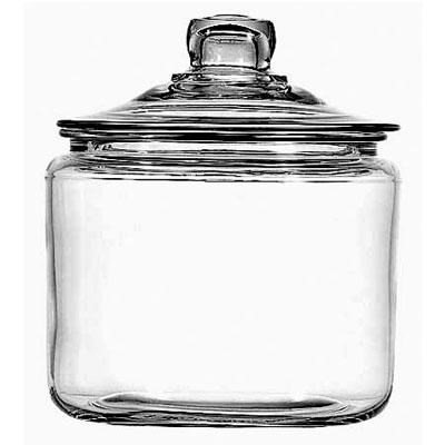 3Qt Heritage Hill Jar w/ Lid (Small Glass Cookie Jars With Lids)