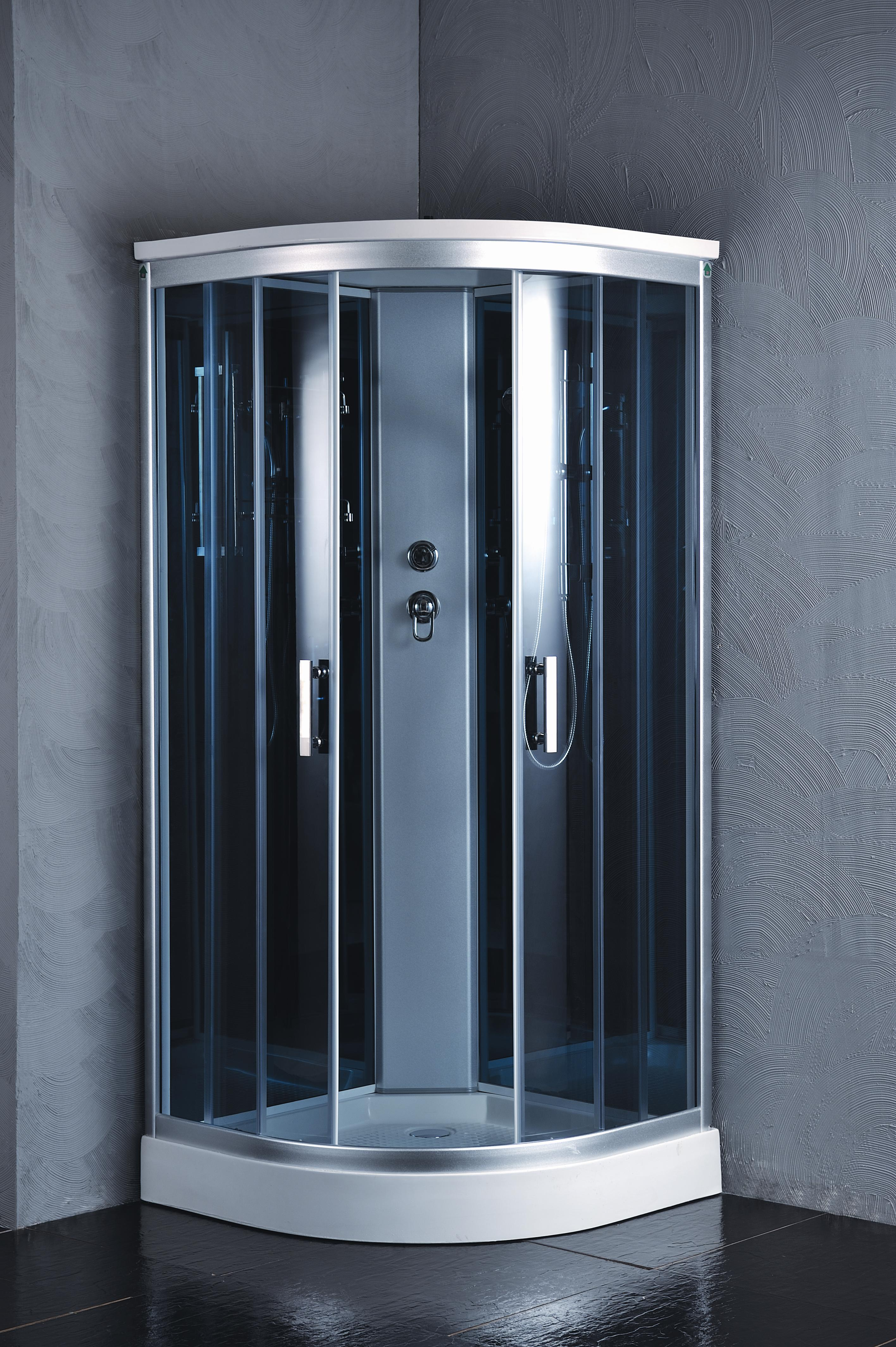 Kokss 9918 Shower Room Enclosure with Rainfall Showerhead and LED ...