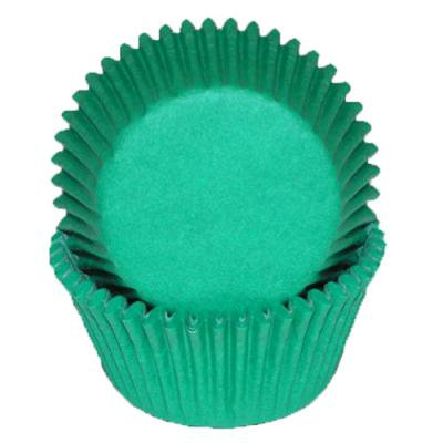 Green - Mini Baking Cupcake Liners - 100 - Green Mini Cupcake Liners