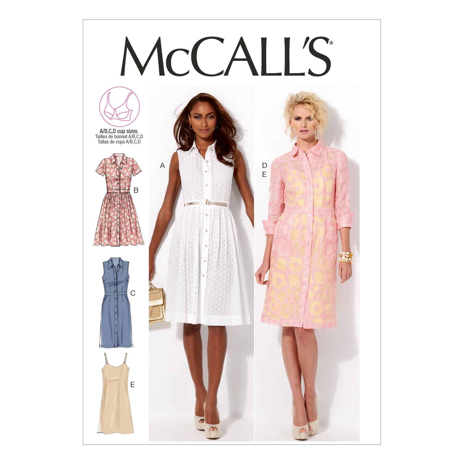 Misses' Dresses and Slip-8-10-12-14-16 -*SEWING PATTERN* - image 1 of 1