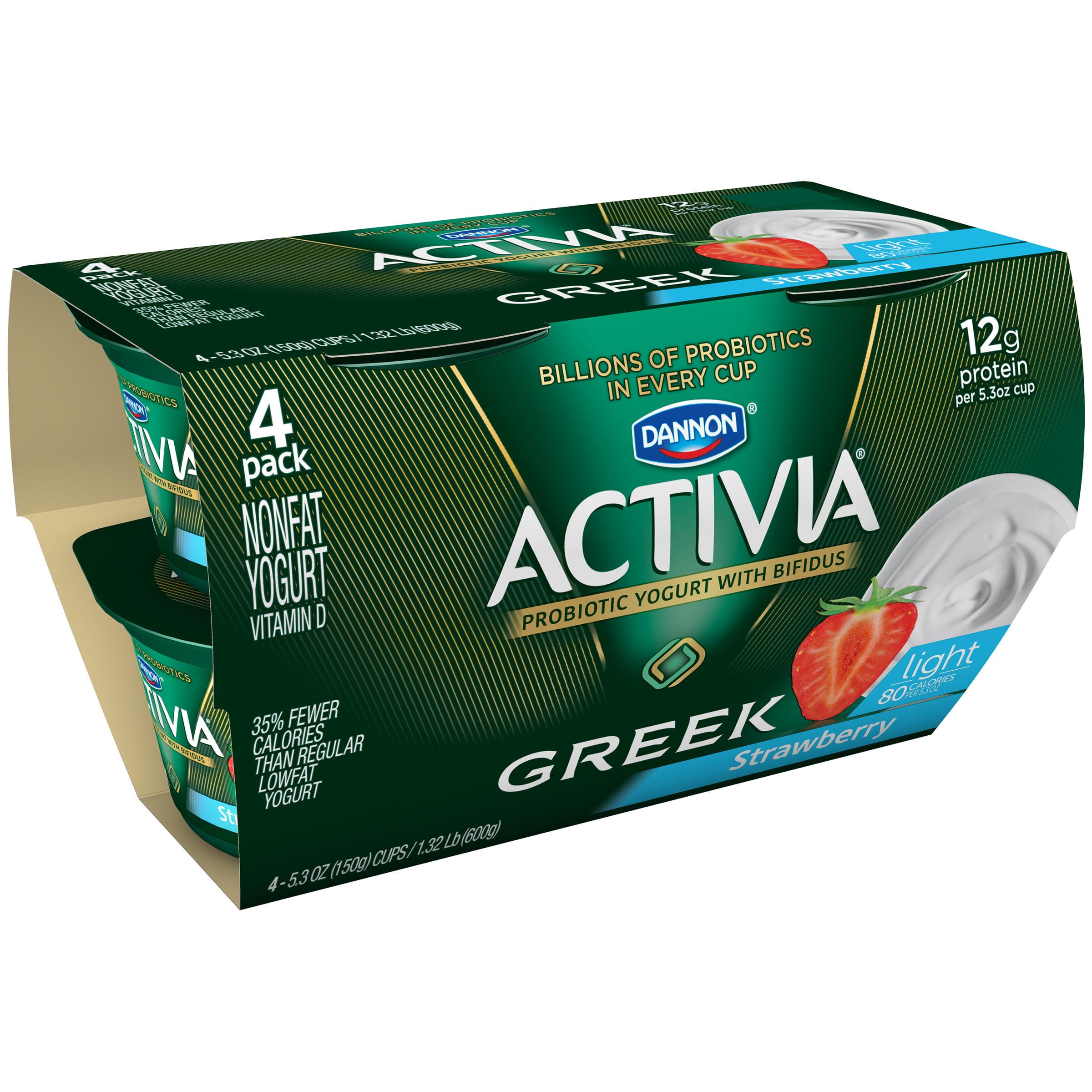 Image of Dannon ® Activia ® Light Greek Probiotic Blended Nonfat Yogurt Strawberry 4-5.3 oz. Pack