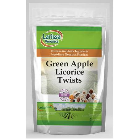 Green Apple Licorice Twists (8 oz, ZIN: 525111) - - Green Apple Licorice