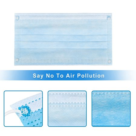 50pcs Disposable Face Mask Safety Mask Industrial Anti Dust for Personal Health 3Ply Ear Loop - image 8 of 13
