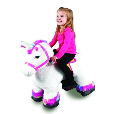 Dynacraft 6v Plush Unicorn Rideon Walmart Com