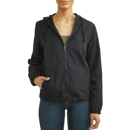 - Women's Long Sleeve Full Zipper Hooded Jacket