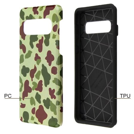 Samsung Galaxy S10 Plus Case, by Insten Duck Camo Dual Layer [Shock Absorbing] Hybrid Hard Plastic/Soft TPU Rubber Case Cover For Samsung Galaxy S10 Plus, Green - image 1 of 5