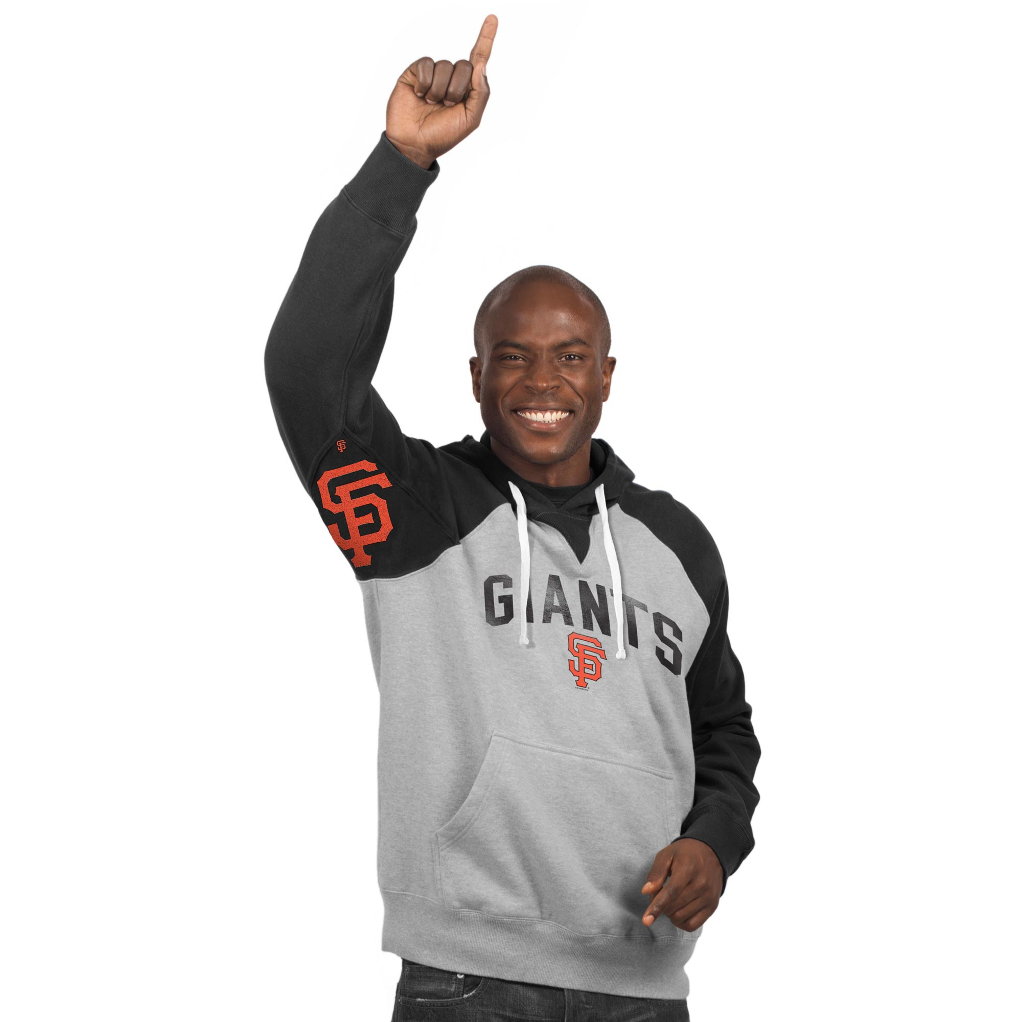 San Francisco Giants Hands High Pullover Hoodie - Gray