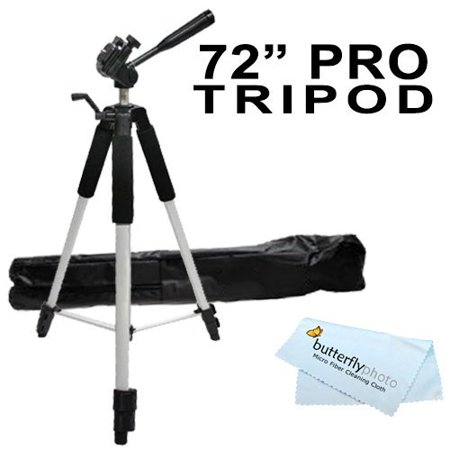 "Professional 72"" Super Strong Tripod With Deluxe Soft Carrying Case For The Canon VIXIA HF R62, HF R60, HF R600, HF R700, HF R72, HF R70, HF R52, HF R50, HF R500, HG21, HG20, HF G40 HD Camcorders - image 2 of 2"