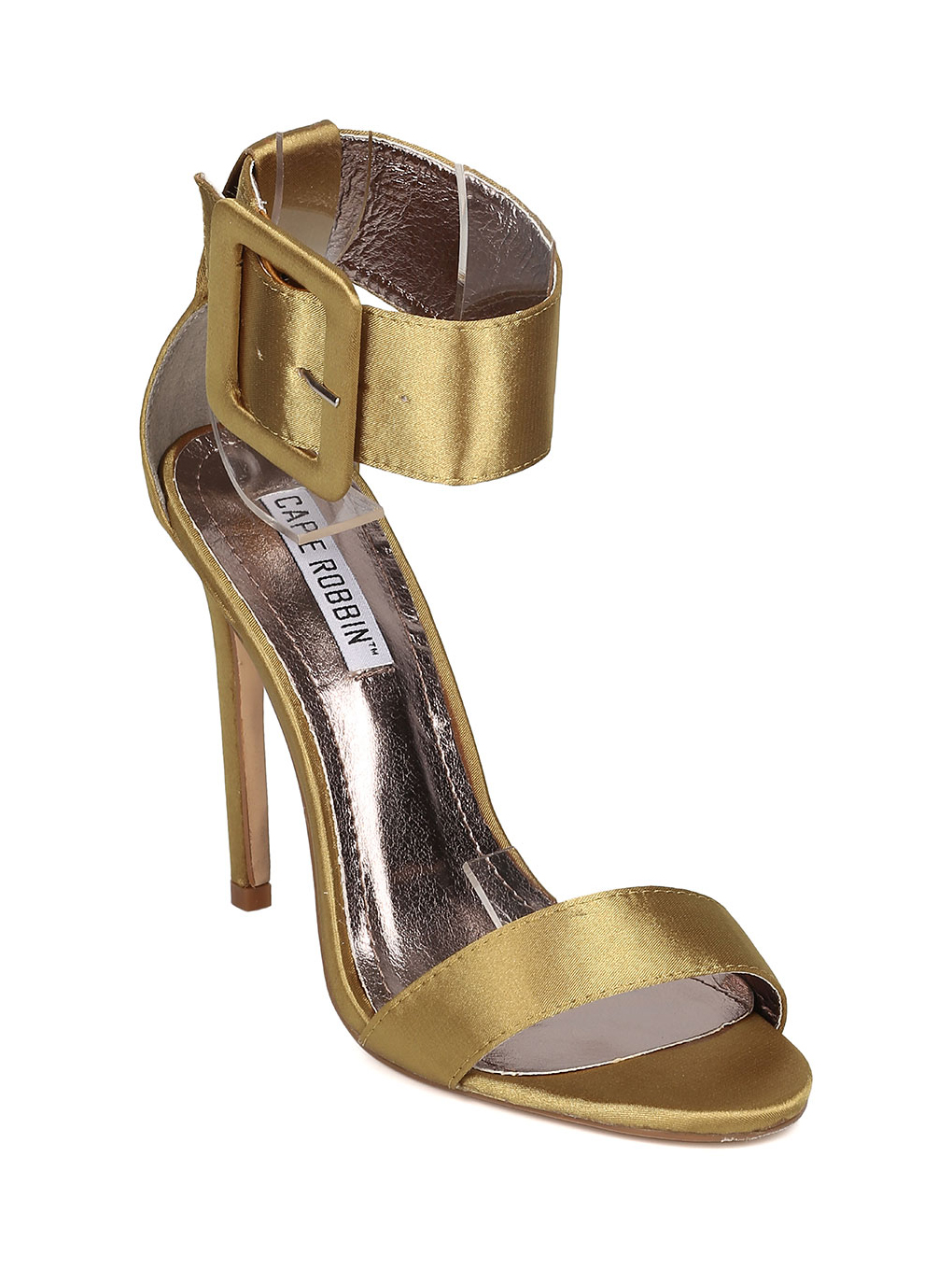 Women/'s Shoes Cape Robbin Suzzy 42 Open Toe Ankle Buckle Heel Olive *New*