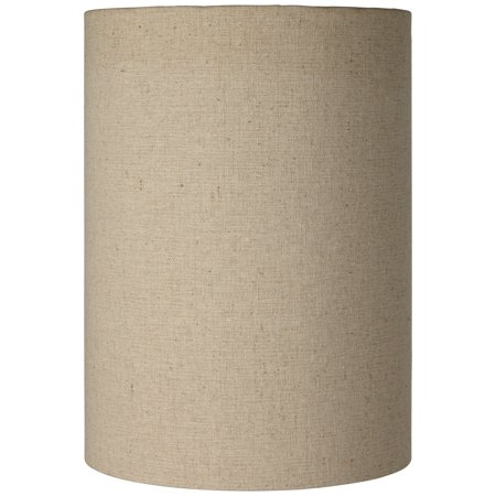 Brentwood Cotton Blend Tan Cylinder Shade 8x8x11 (Spider) (Cylinder Glass Shade Replacement)