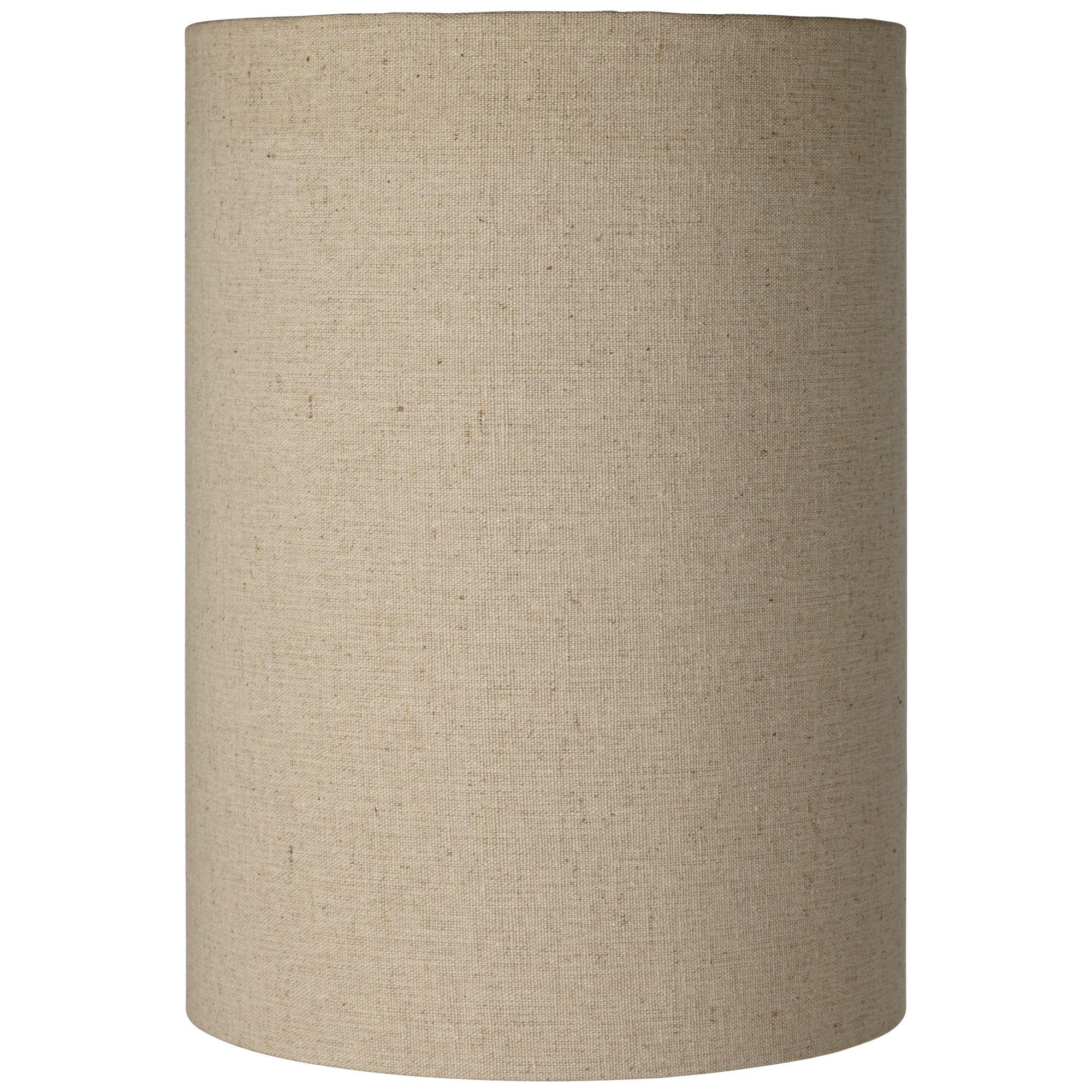 Brentwood Cotton Blend Tan Cylinder Shade 8x8x11 (Spider)