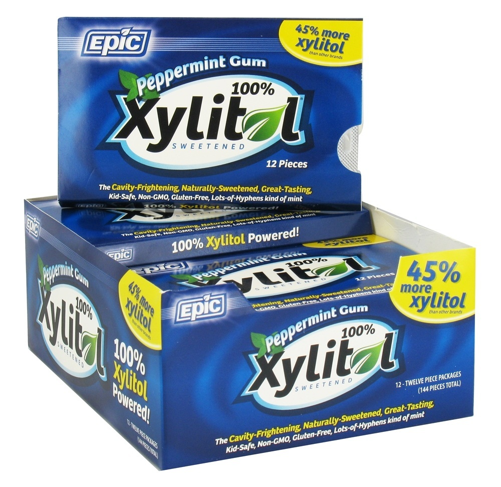 Epic Dental - Xylitol Sweetened Gum Peppermint - 12 Piece(s)