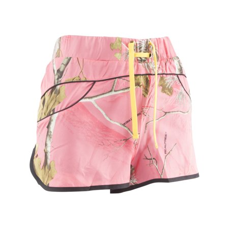 Realtree Girl Rylee Shorts  Realtree  Apc Sugar Coral   Empire Yellow  Pack Of 1