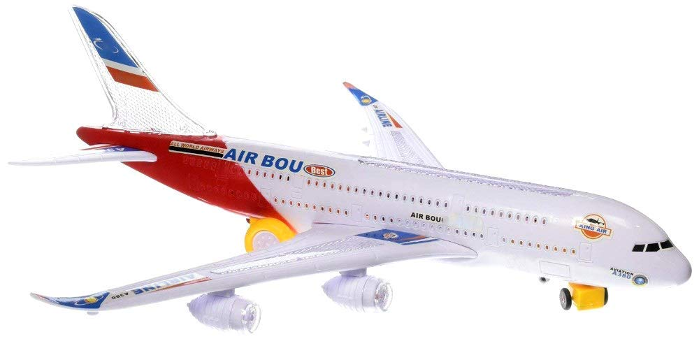 Airbus Toy Airplane Commercial Aircraft Toy Airplane with Flashing Lights and Sound (Red) drives with the... by